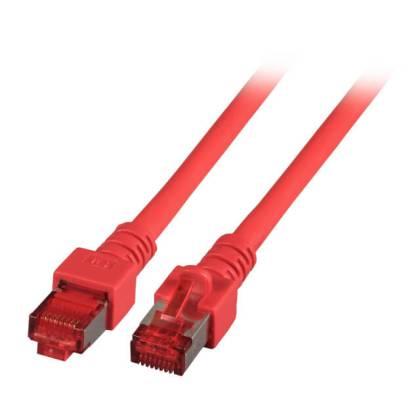 Patchkabel Cat.6 S/FTP RJ45 DSL Ethernet TV Netzwerk LAN 5GB rot 0,15m