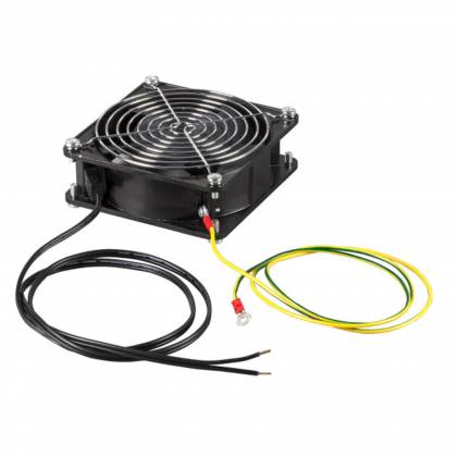 Einbaulüfter für Wandgehäuse Netzwerkschrank mit Lüftergitter + Kabel ProfiPatch
