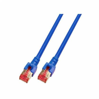 Patchkabel Cat.6 S/FTP RJ45 DSL Ethernet TV Netzwerk LAN 5GB blau 0,15m