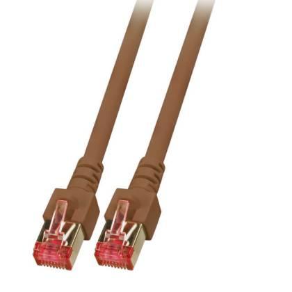 Patchkabel Cat.6 S/FTP RJ45 DSL Ethernet TV Netzwerk LAN 5GB braun 5m