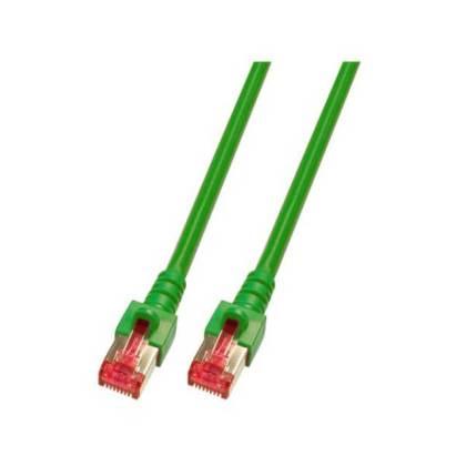 Patchkabel Cat.6 S/FTP RJ45 DSL Ethernet TV Netzwerk LAN 5GB grün 7,5m