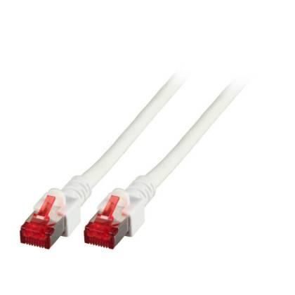 Patchkabel Cat.6 S/FTP RJ45 DSL Ethernet TV Netzwerk LAN 5GB weiß 0,15m