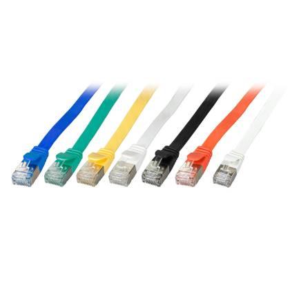 Patchkabel Flachkabel Slim Cat.6A U/FTP RJ45 TV Netzwerk LAN 7 Farben 0,25m-15m
