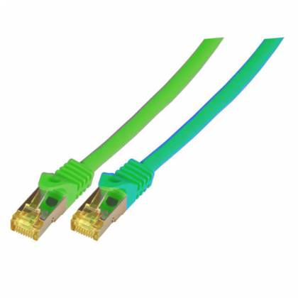 Patchkabel Cat.6A S/FTP LSZH Cat.7 Rohkabel RJ45 PiMF 10GB grün 1,5m