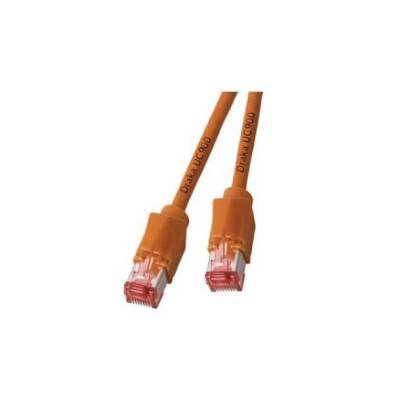 Patchkabel Cat.6A S/FTP PiMF Draka UC900+RJ45 Hirose TM21 10GB orange 0,5m