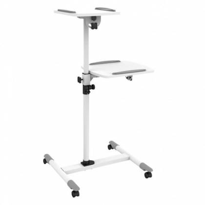 Flexible Universal Trolley für Notebook/Beamer 85-110cm weiß Techly ICA-TB-TPM-6