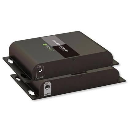 HDBIT VGA/Audio Extender Sender/Empfänger over IP 120m Techly IDATA-EXTIP-383V