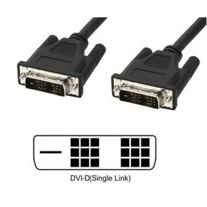 DVI-D Single-Link Kabel Stecker/Stecker schwarz 5m Techly ICOC-DVI-8050