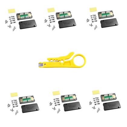 6x Netzwerk Verlängerung Verbindungsmodul LSA Verbinder Cat.6A Cat.7 geschirmt