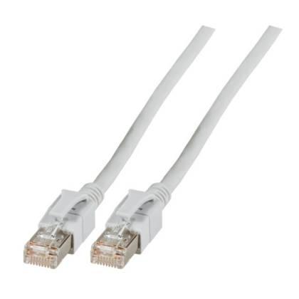 Patchkabel Cat.6a VC LED S/FTP LSZH Cat.7 Rohkabel RJ45 PiMF 10GB grau 15m