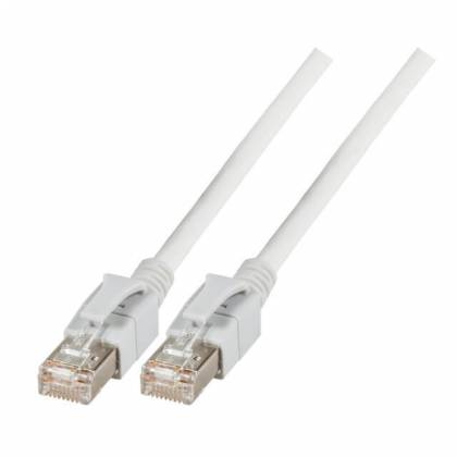 Patchkabel Cat.6a VC LED S/FTP LSZH Cat.7 Rohkabel RJ45 PiMF 10GB weiß 1,5m