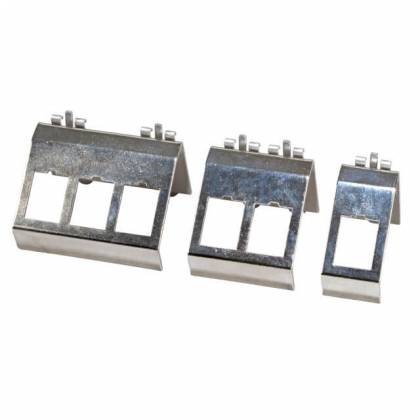 Keystone Modulhalter 1-fach 2-fach 3-fach für Hutschiene Edelstahl  ProfiPatch