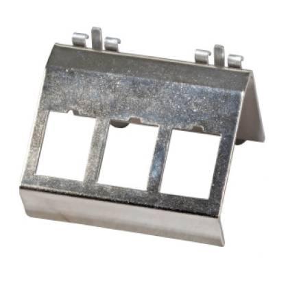 Keystone Modulhalter 3-fach für Hutschiene Edelstahl  ProfiPatch