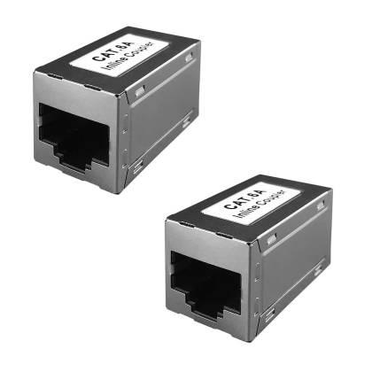 2x Netzwerk Kupplung Cat.6A RJ45 Patchkabel Verbinder Modular Adapter ProfiPatch
