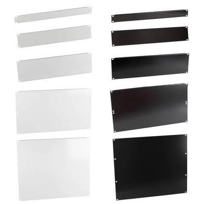 "19"" Blindplatten 1HE/2HE/3HE/6HE/9HE für Netzwerkschrank grau/schwarz ProfiPatch"