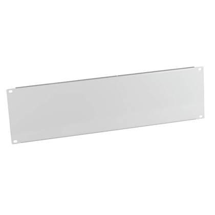 """19"""" Blindplatte 3HE für Netzwerkschrank lichtgrau RAL7035 ProfiPatch"""