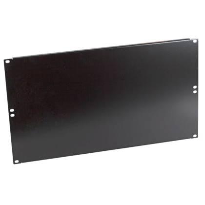 """19"""" Blindplatte 6HE für Netzwerkschrank tiefschwarz RAL9005 ProfiPatch"""