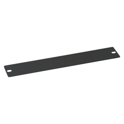"""10"""" Blindplatte 1HE für Netzwerkschrank tiefschwarz RAL9005 ProfiPatch"""
