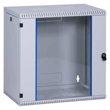 """19"""" Wandgehäuse Netzwerkschrank Serverschrank 12HE Tiefe 400mm grau ProfiPatch"""