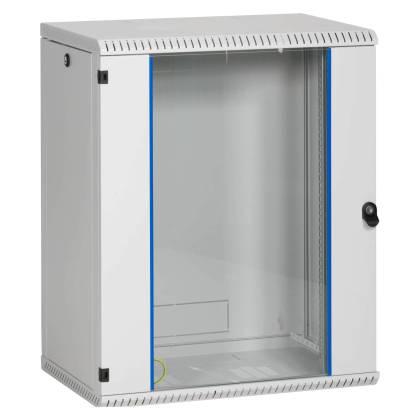 """19"""" Wandgehäuse Netzwerkschrank Serverschrank 15HE Tiefe 600mm grau ProfiPatch"""