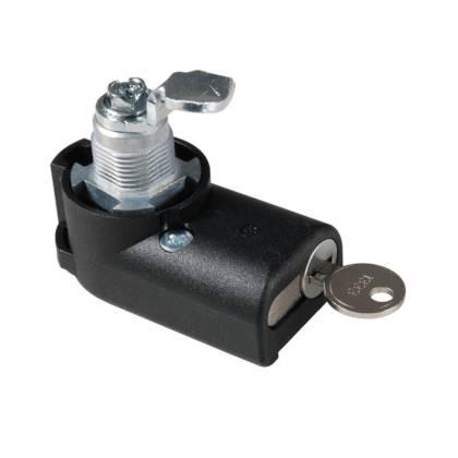 Kompaktschwenkhebel für Profilhalbzylinder zum Nachrüsten für Netzwerkschränke