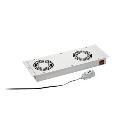 Dachlüftereinschub 2-fach lichtgrau RAL7035 für Standverteiler s01 CLASSIC