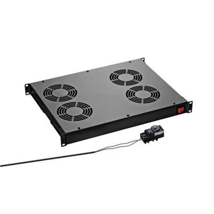 Dachlüftereinschub 4-fach tiefschwarz RAL9005 für Standverteiler s01 CLASSIC