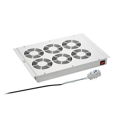 Dachlüftereinschub 6-fach lichtgrau RAL7035 für Standverteiler s01 CLASSIC