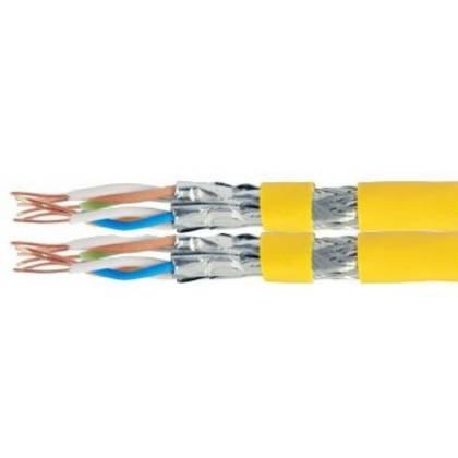 Verlegekabel Netzwerk Installation Cat.7A_1200 MHz Duplex (2x8 Adern) 500m