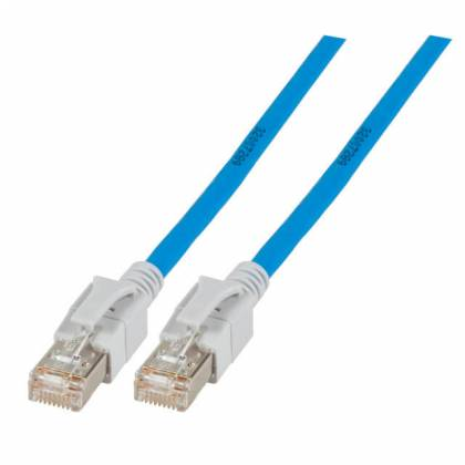 Patchkabel Cat.6a VC LED S/FTP LSZH Cat.7 Rohkabel RJ45 PiMF 10GB blau 1m