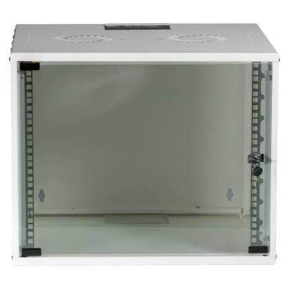 "19"" Wandgehäuse Netzwerkschrank Wandschrank unmontiert 9HE Tiefe 450mm weiß ProfiPatch"