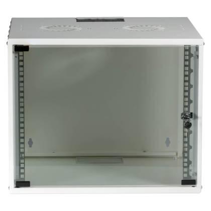 "19"" Wandgehäuse Netzwerkschrank Wandschrank unmontiert 9HE Tiefe 600mm weiß ProfiPatch"
