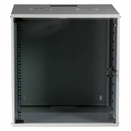 "19"" Wandgehäuse Netzwerkschrank Wandschrank unmontiert 12HE Tiefe 450mm grau ProfiPatch"