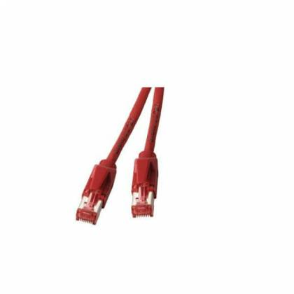 Patchkabel Cat.6A S/FTP PiMF Draka UC900+RJ45 Hirose TM21 10GB rot 25m