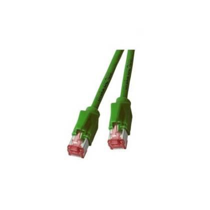 Patchkabel Cat.6A S/FTP PiMF Draka UC900+RJ45 Hirose TM21 10GB grün 15m