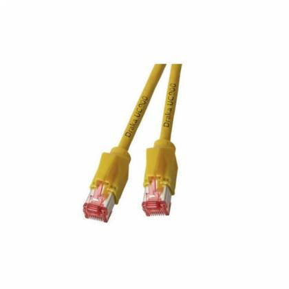 Patchkabel Cat.6A S/FTP PiMF Draka UC900+RJ45 Hirose TM21 10GB gelb 25m
