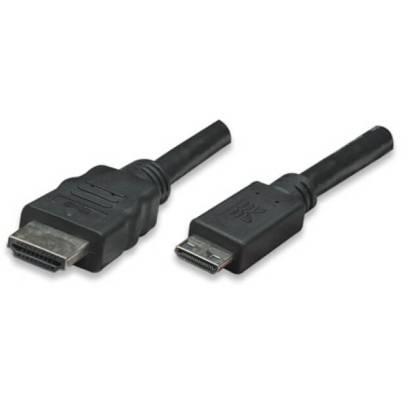 HDMI Kabel HighSpeed mit Ethernet/ Mini HDMI schwarz 3m Techly ICOC-HDMI-B-025