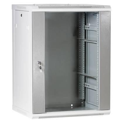 """19"""" Wandgehäuse Netzwerkschrank Serverschrank 15HE Tiefe 500mm grau ProfiPatch"""