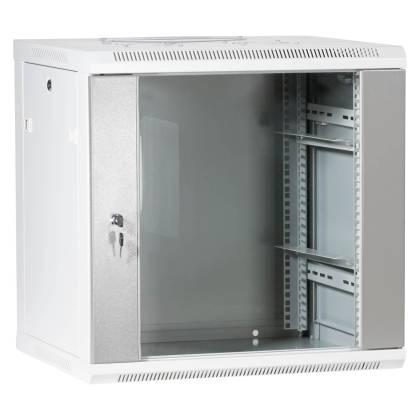 """19"""" Wandgehäuse Netzwerkschrank Serverschrank 12HE Tiefe 500mm grau ProfiPatch"""