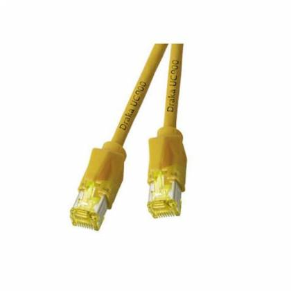Patchkabel Cat.6A S/FTP PiMF Draka UC900+RJ45 Hirose TM31 10GB gelb 25m