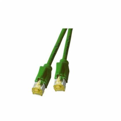 Patchkabel Cat.6A S/FTP PiMF Draka UC900+RJ45 Hirose TM31 10GB grün 15m