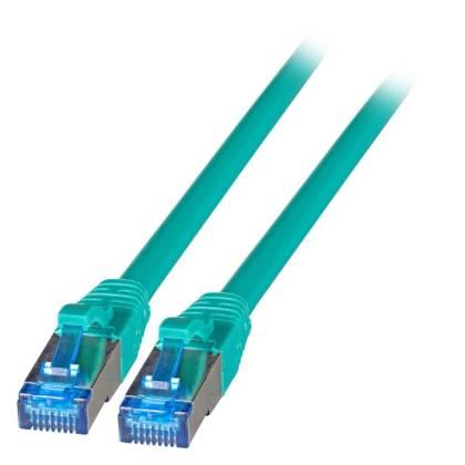 Patchkabel Cat.6A S/FTP TPE superflex mit Cat.7 Rohkabel 10GB grün 25m