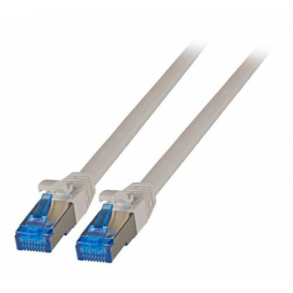 Patchkabel Cat.6A S/FTP TPE superflex mit Cat.7 Rohkabel 10GB grau 1,5m