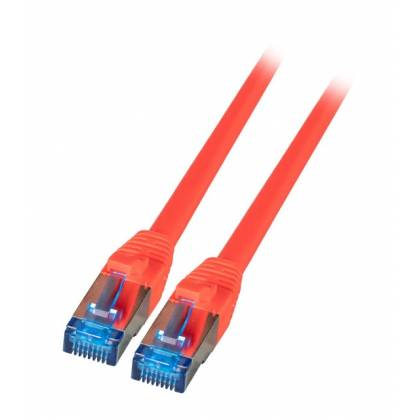 Patchkabel Cat.6A S/FTP TPE superflex mit Cat.7 Rohkabel 10GB rot 1,5m