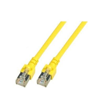 Patchkabel Cat.5e SF/UTP PVC RJ45 DSL Ethernet TV Netzwerk LAN 2,5GB gelb 0,5m