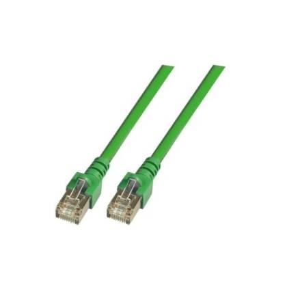 Patchkabel Cat.5e SF/UTP PVC RJ45 DSL Ethernet TV Netzwerk LAN 2,5GB grün 1m