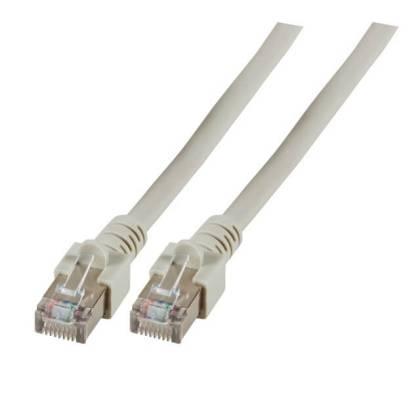 Patchkabel Cat.5e SF/UTP PVC RJ45 DSL Ethernet TV Netzwerk LAN 2,5GB grau 0,7m
