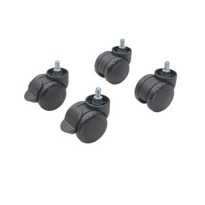 Kunststoff-Lenkrollen Set mit Stahl-Gewindestift M8 für Netzwerkschrank s24/s26