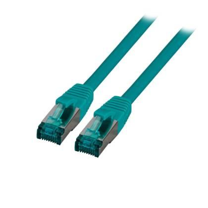 Patchkabel Cat.6A S/FTP LSZH DSL Ethernet TV Netzwerk LAN 10GB grün 3m