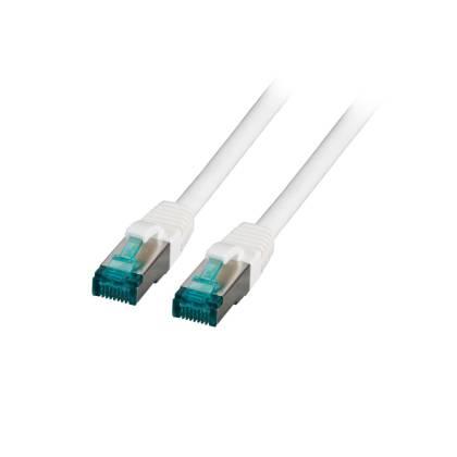 Patchkabel Cat.6A S/FTP LSZH DSL Ethernet TV Netzwerk LAN 10GB weiß 0,15m
